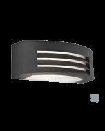 Απλίκα 29 εκ.Εξ.Χώρου  IP44 1*E27 Αλουμίνιο Ανθρακί -Σκιάδιο Λευκό  Viokef Limnos 4080300