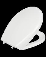 Κάλυμμα Λεκάνης τύπου Universal 36*41-45 cm Λευκό Πλαστικό Soft Close με Αποσπώμενα στηρίγματα Elvit 0304