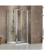 Πόρτα ντουσιέρας 90 εκ. 2 Πτυσσόμενα Φύλλα Ύψος 185 εκ. Devon Primus Plus Bi Fold BI090T-100