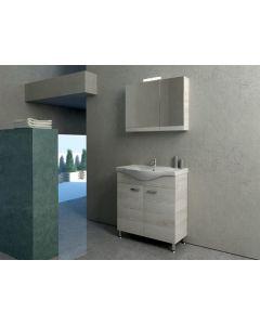 Έπιπλο Μπάνιου Σετ 75 εκ. Βάση-Νιπτήρας-Καθρέπτης-Φωτιστικό Savvopoulos Cronos I