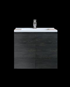 Έπιπλο Μπάνιου 100 εκ. με Νιπτήρα Χρώμα Pine Dark Sanitec Alba A 100