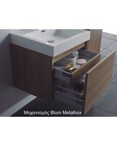 Έπιπλο Μπάνιου 60 εκ.-Νιπτήρα Blum Metalbox System, Χρώμα Cherry ECO-60A FT21.060.003BRC
