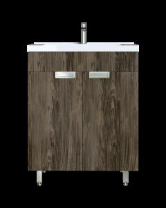 Έπιπλο Μπάνιου 65 εκ. με Νιπτήρα & ποδαράκια Χρώμα Anziano Grey Sanitec Lido 65