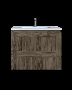 Έπιπλο Μπάνιου 70 εκ. με Νιπτήρα Χρώμα Anziano Grey Sanitec Alba Β 70