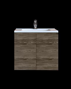 Έπιπλο Μπάνιου 70 εκ. με Νιπτήρα Χρώμα Anziano Grey  Sanitec Alba A 70