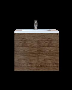 Έπιπλο Μπάνιου 70 εκ. με Νιπτήρα Χρώμα Anziano Natural Sanitec Alba A 70