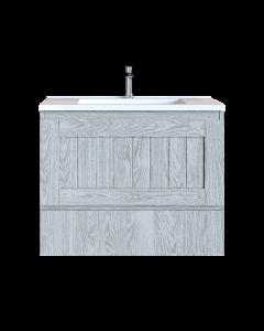 Έπιπλο Μπάνιου 70 εκ. με Νιπτήρα Χρώμα Canyon Greyish Sanitec Alba Β 70