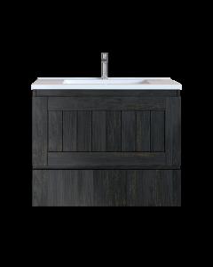 Έπιπλο Μπάνιου 70 εκ. με Νιπτήρα Χρώμα Pine Dark Sanitec Alba Β 70