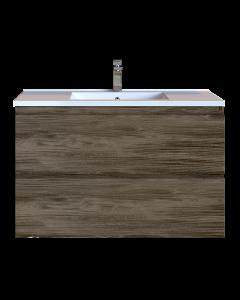 Έπιπλο Μπάνιου 80 εκ. με Νιπτήρα Χρώμα Anziano Grey Sanitec Alba D 80