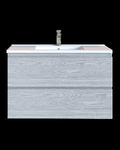 Έπιπλο Μπάνιου 80 εκ. με Νιπτήρα Χρώμα Canyon Greyish Sanitec Alba D 80