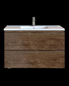 Έπιπλο Μπάνιου 90 εκ. με Νιπτήρα Χρώμα Anziano Natural Sanitec Alba D 90