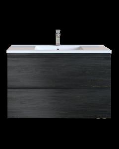 Έπιπλο Μπάνιου 90 εκ. με Νιπτήρα Χρώμα Pine Dark Sanitec Alba D 90