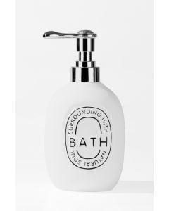Ανλία Κρεμοσάπουνου Επιτραπέζια Λευκή Ρητίνη Ecocasa Bath 02-2503