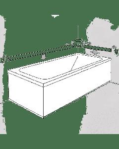 Αρμοκάλυπτρο Περιφερειακό για Μπανιέρες Carron BVB01BN