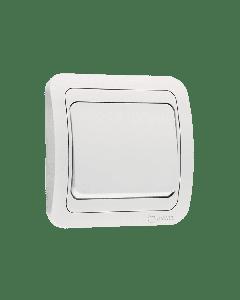 Διακόπτης Χωνευτός Απλός Λευκός Makel Mimoza 12101