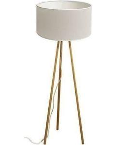 Επιδαπέδιο Φωτιστικό Ξύλινη Βάση / Καπέλο Λευκό Viokef Rocket 4120100