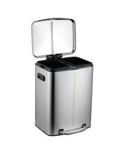 Κάδος Ανακύκλωσης Δύο Εσωτερικοί Κάδοι 20+20 Λίτρα Μαύρο Ματ Ecocasa 01-8604