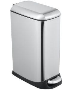 Κάδος Απορριμμάτων 20lt Χρωμέ  με Πεντάλ Ecocasa Slim Inox 01-9137