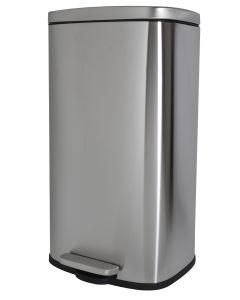 Κάδος 30 Λίτρων με πεντάλ Inox Ματ, Απαλό Κλείσιμο Soft Close Ecocasa 01-5627