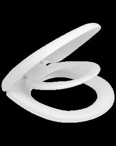 Κάλυμμα Λεκάνης με Ενσωματωμένο Παιδικό,37,4*40-44 cm Λευκό Πλαστικό Soft Close με Αποσπώμενα στηρίγματα Elvit Family 0340