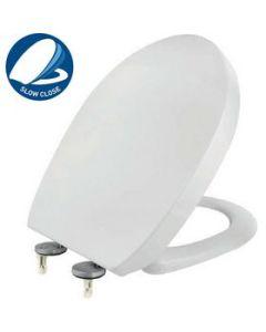 Κάλυμμα Λεκάνης WC Αποσπώμενο Soft Close Βακελιτικό Λευκό 36,5*43-46cm Elvit 0203