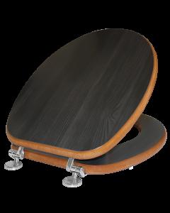 Κάλυμμα Λεκάνης WC Bαρέως Τύπου Χρώμα Rovere Scuro MDF 36*40-46cm Elvit 0285
