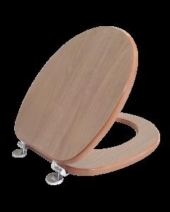 Κάλυμμα Λεκάνης WC Bαρέως Τύπου Rovere Grigio MDF  36*40-46cm Elvit 0286