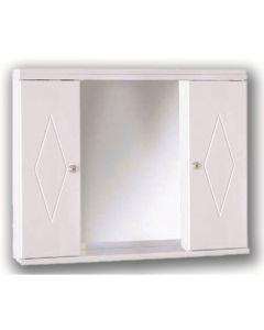 Καθρέπτης -Ντουλάπι Μαδαγασκάρη 80*15*62 εκ. Λευκό Vivid 9041080W