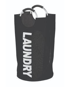 Καλάθι Απλύτων Υφασμάτινο Laundry Μαύρο με λαβή Αλουμινίου Ecocasa 02-4095