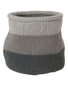 """Καλάθι Αποθήκευσης 20*20 εκ.  Ακρυλικό Τρίχρωμο Γκρι """"Knitted"""" Sealskin 361971412"""