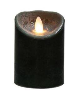 Κερί με κινούμενη φλόγα Led Μπαταρίας Μαύρος Κορμός  Ø10*15 εκ. Plastona 148103C