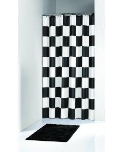 Κουρτίνα Μπάνιου 180*200 εκ. Υφασμάτινη Polyester Joy Bath Chess 002-00033