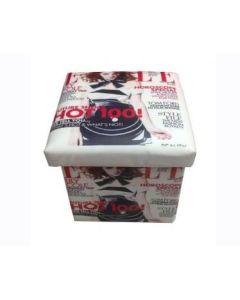 """Κουτί  Αποθήκευσης """"Elle"""" 30*30*30 εκ. Δερματίνη Etoile BF081"""