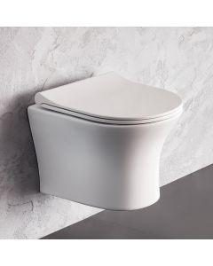 Λεκάνη Κρεμαστή 48,5 εκ. Rimless Κάλυμμα Slim Soft Close Bianco Ceramica Aida AD11000SC