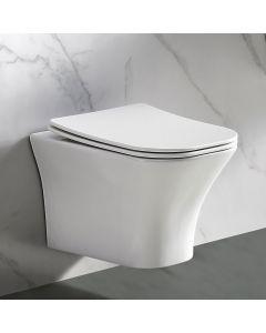 Λεκάνη Κρεμαστή 49 εκ. Rimless Κάλυμμα Slim Soft Close Bianco Ceramica Delia DL11000SC