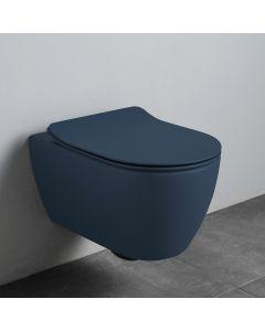 Λεκάνη Κρεμαστή 50,5 Rimless Κάλυμμα Αποσπώμενο Slim Soft Close Scarabeo Ocean Blue 55200CS-600