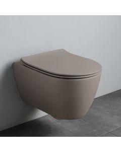 Λεκάνη Κρεμαστή 50,5cm Rimless Κάλυμμα Αποσπώμενο Slim Soft Close Scarabeo Sand Clean Flush 552000CS-510
