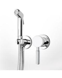 Μίκτης Εντοιχιζόμενος 2 οπών με ντουσάκι  για πλύση ατομικής υγιεινής (Μπιντέ) Χρωμέ La Torre Profili 12211-100