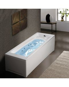Μπανιέρα Υδρομασάζ Ακρυλική 170*80 εκ. Sirene Cubic CUB17080W