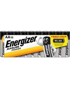 Μπαταρίες Αλκαλικές AA /Ε91 (Μινιόν) Family Pack 10 τμχ. Energizer Alkaline Power LR6 F016609