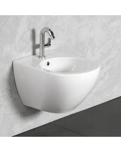 Μπιντέ Κρεμαστό 52 εκ. Λευκή Πορσελάνη Bianco Ceramica Remo Rimless RMB50