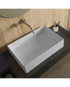 Νιπτήρας Επιτραπέζιος  60*40 εκ. Λευκό Ματ Scarabeo Theorema Color 5101-301