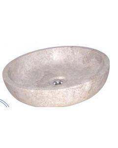 Νιπτήρας Πέτρινος Επιτραπέζιος Bati Milo Stone Ø40*10cm