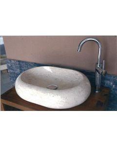 Νιπτήρας Πέτρινος Επιτραπέζιος Bati Ovalite Μπεζ 55*40*13cm