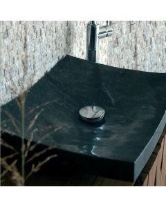 Νιπτήρας Πέτρινος Μαύρο  50*40*12cm Bati Stone Piring