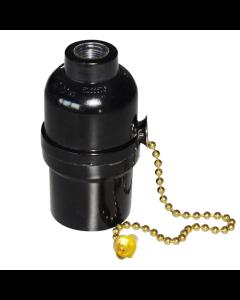 Ντουί Vintage Μαύρο Πλαστικό με Διακοπτάκι / Αλυσίδα Χρυσή EL427907