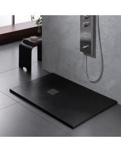 Ντουσιέρα 120*80*2,4 εκ. Γκρι Ματ Χυτό Μάρμαρο Sirene Cast Marble Slate S12080-411