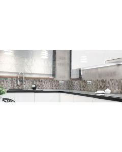 Πλακάκι Κεραμικό Ντεκόρ Γυαλιστερό Μπάνιου / Κουζίνας 20*60cm Dante Decor Gris AP262060DDG
