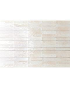 Πλακάκι Τοίχου Τουβλάκι 6*25 εκ. Πορσελανάτο Διπλής Υάλωσης Soho Ivory Super Glossy