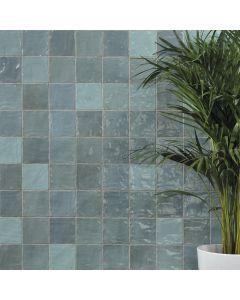 Πλακάκι Τοίχου 10*10 εκ. Γυαλιστερό Peronda Ceramicas Riad Glossy Aqua